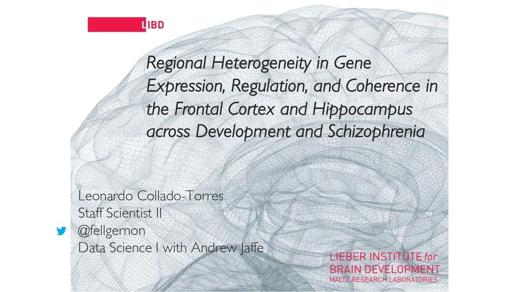 11 Regional Heterogeneity in Gene Expression, R...