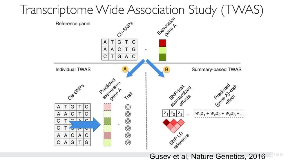 Gusev et al, Nature Genetics, 2016 Transcriptom...