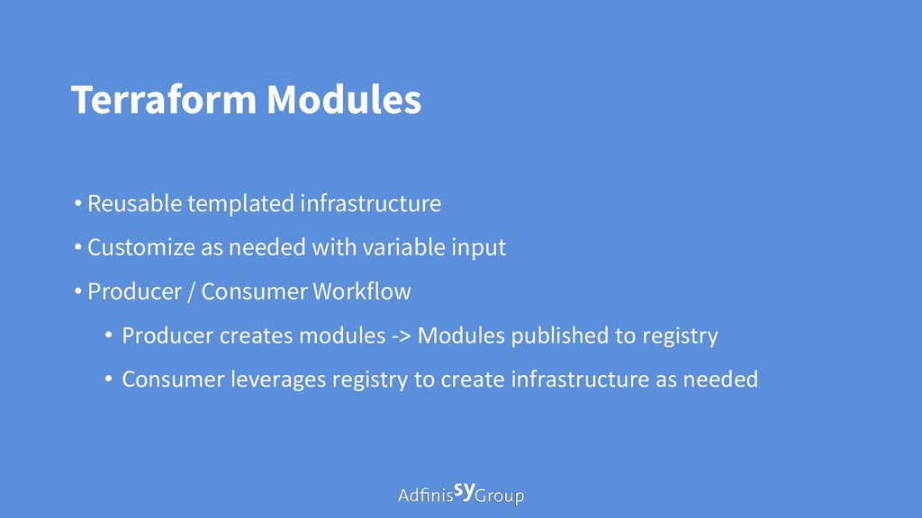Terraform Modules • Reusable templated infrastr...