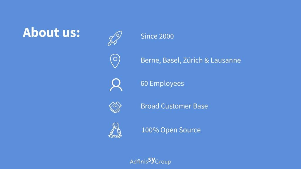About us: Berne, Basel, Zürich & Lausanne 60 Em...