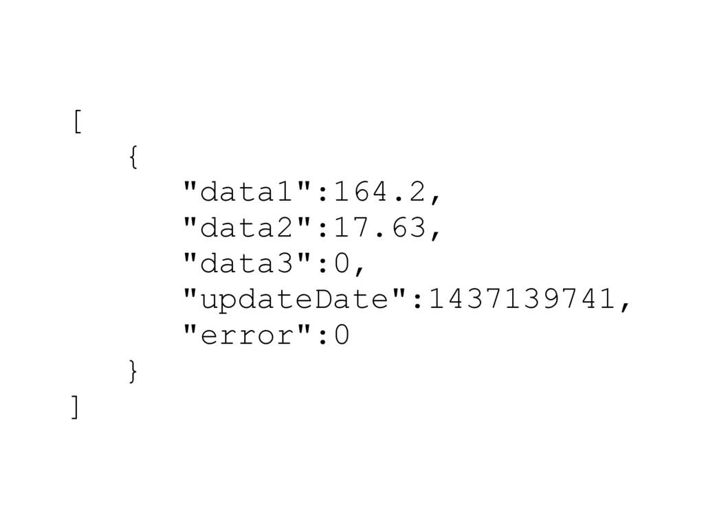 """[ { """"data1"""":164.2, """"data2"""":17.63, """"data3"""":0, """"u..."""