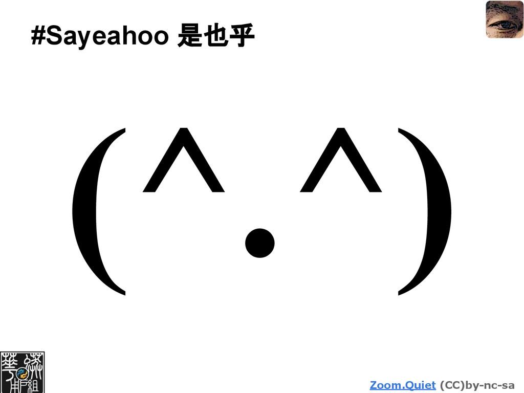 Zoom.Quiet (CC)by-nc-sa #Sayeahoo 是也乎 (^.^)