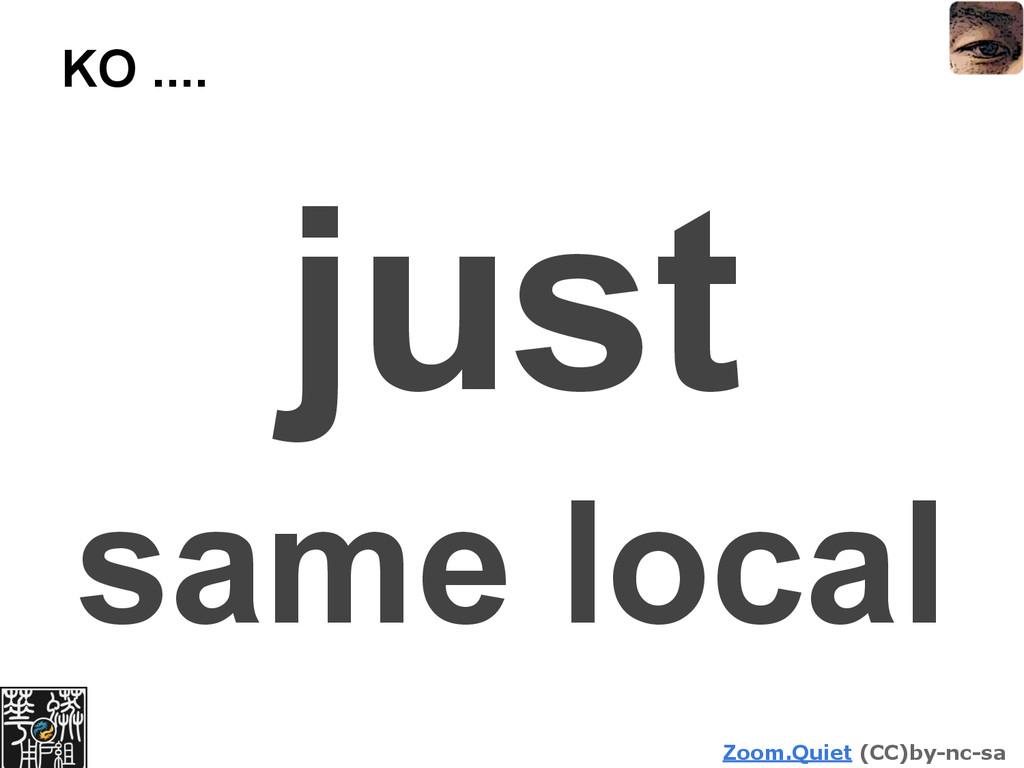 Zoom.Quiet (CC)by-nc-sa KO .... just same local