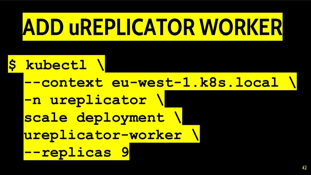 $ kubectl \ --context eu-west-1.k8s.local \ -n ...