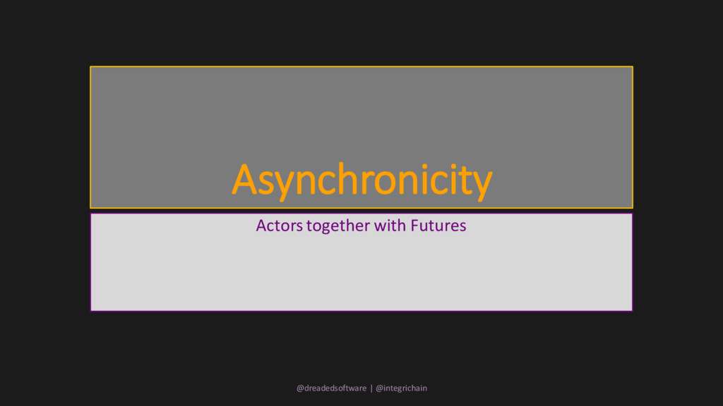 Asynchronicity Actors together with Futures @dr...