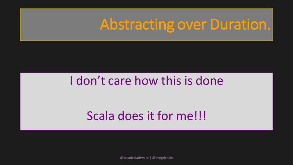 Abstracting over Duration. I don't care how thi...