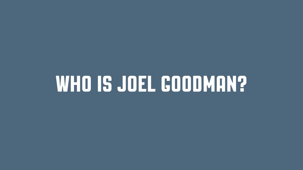 who is joel goodman?