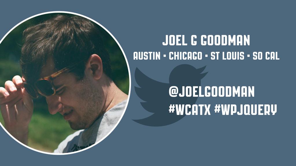 Joel G Goodman Austin • Chicago • St Louis • SO...
