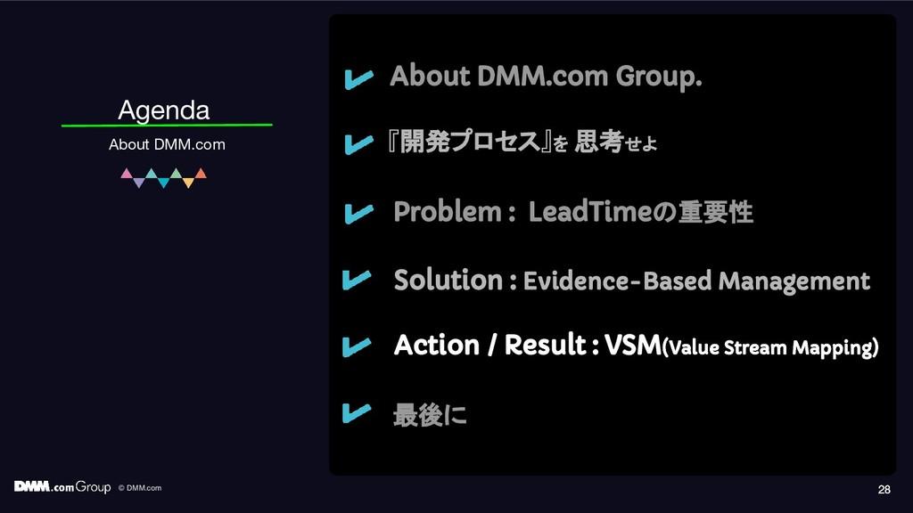 © DMM.com 28 Agenda About DMM.com About DMM.com...