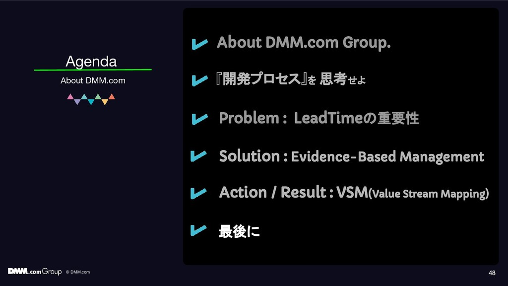 © DMM.com 48 Agenda About DMM.com About DMM.com...