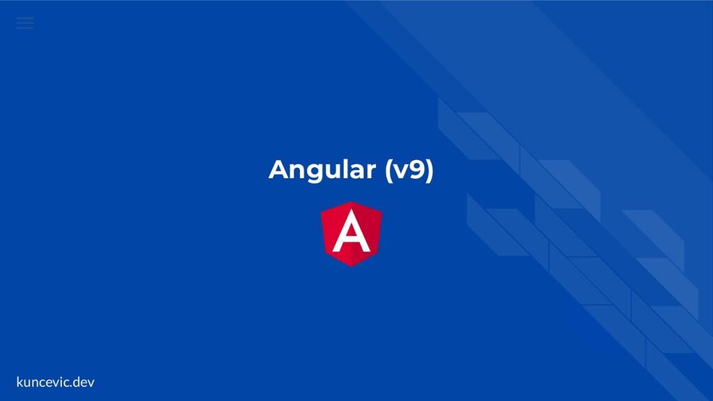 kuncevic.dev Angular (v9)