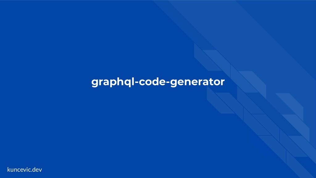 kuncevic.dev graphql-code-generator