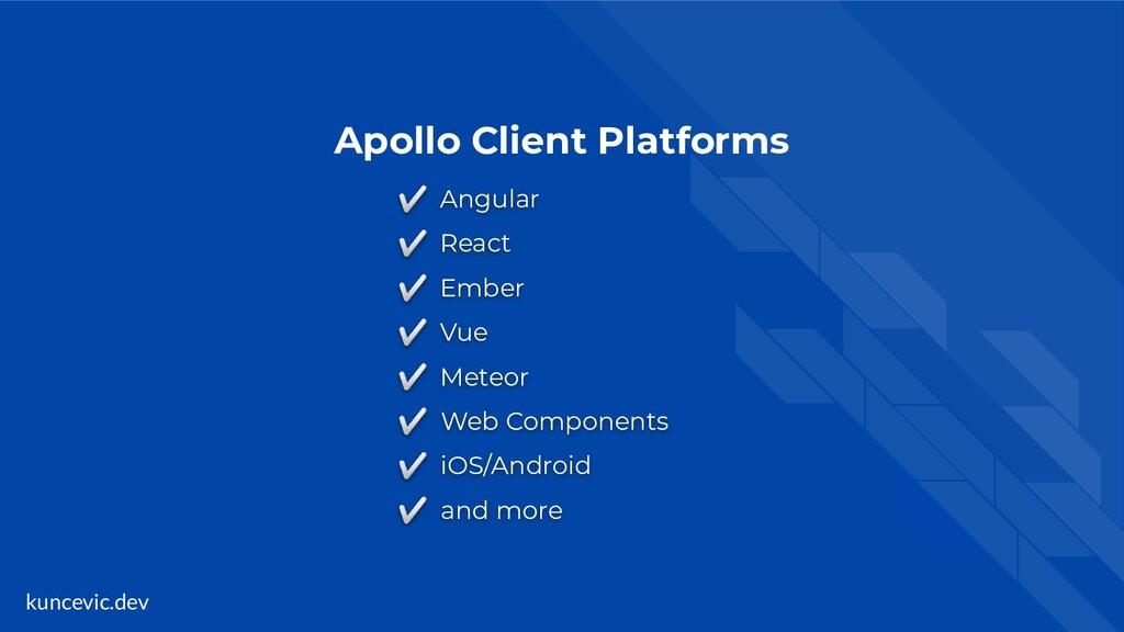 kuncevic.dev Apollo Client Platforms ✅ Angular ...