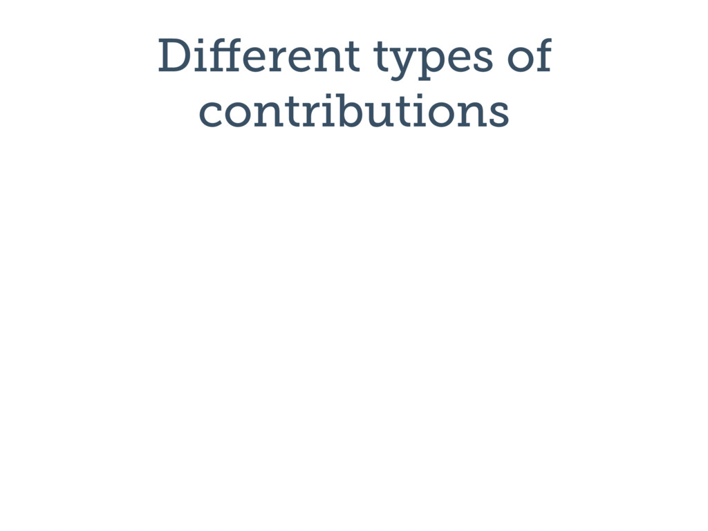 Different types of contributions