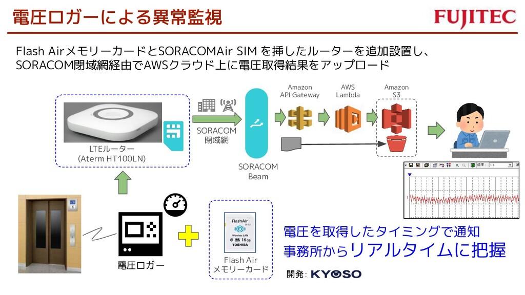電圧ロガーによる異常監視 電圧ロガー Flash AirメモリーカードとSORACOMAir ...