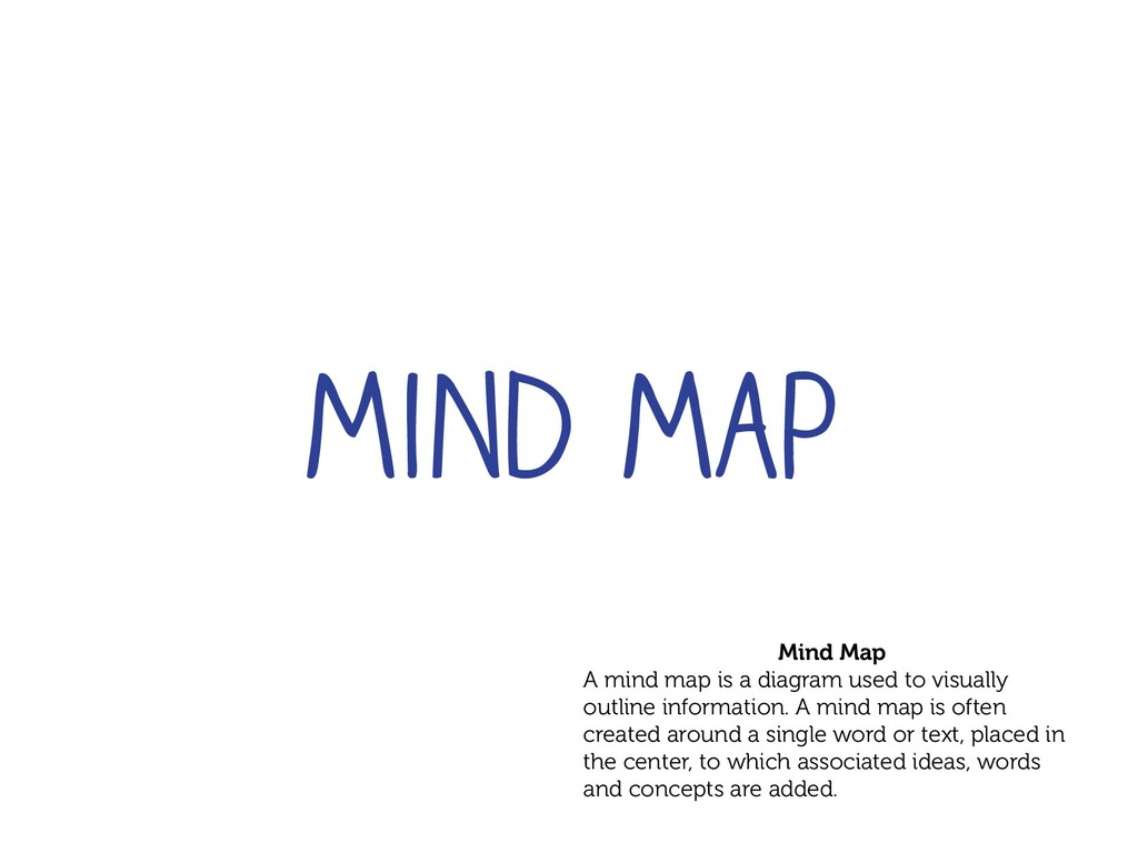 Mind Map A mind map is a diagram used to visual...