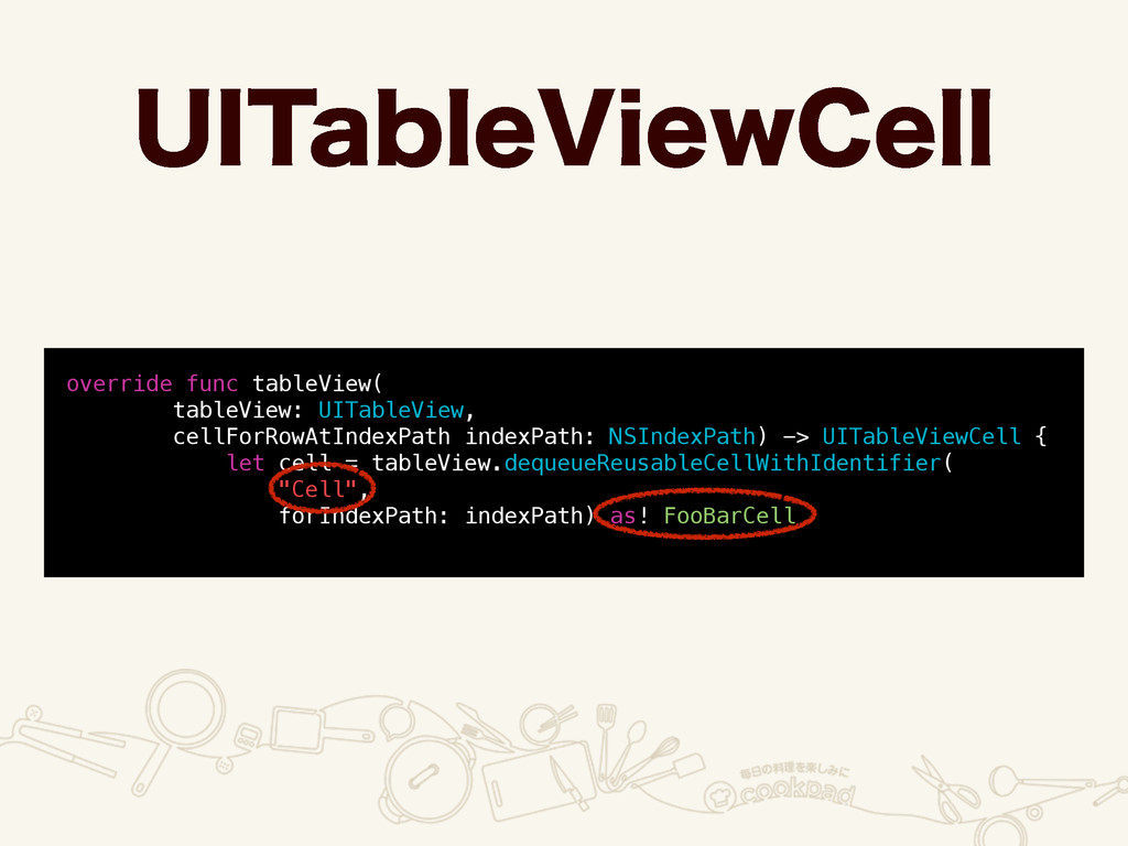 6*5BCMF7JFX$FMM override func tableView( tableV...