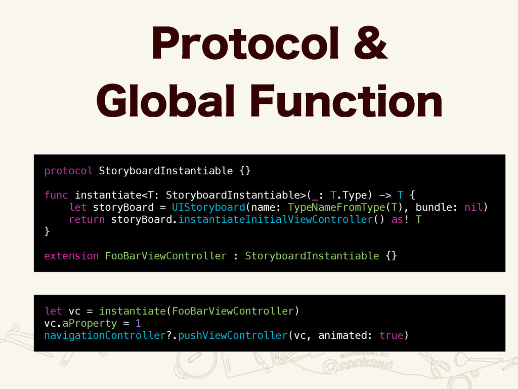 protocol StoryboardInstantiable {} func instant...