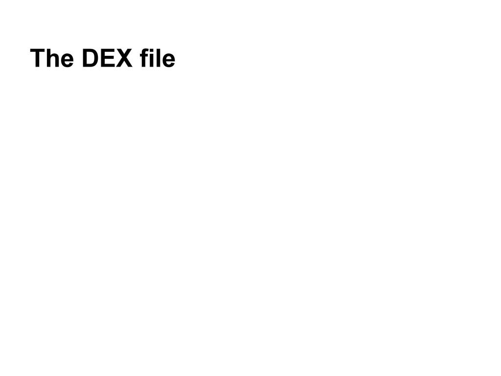 The DEX file