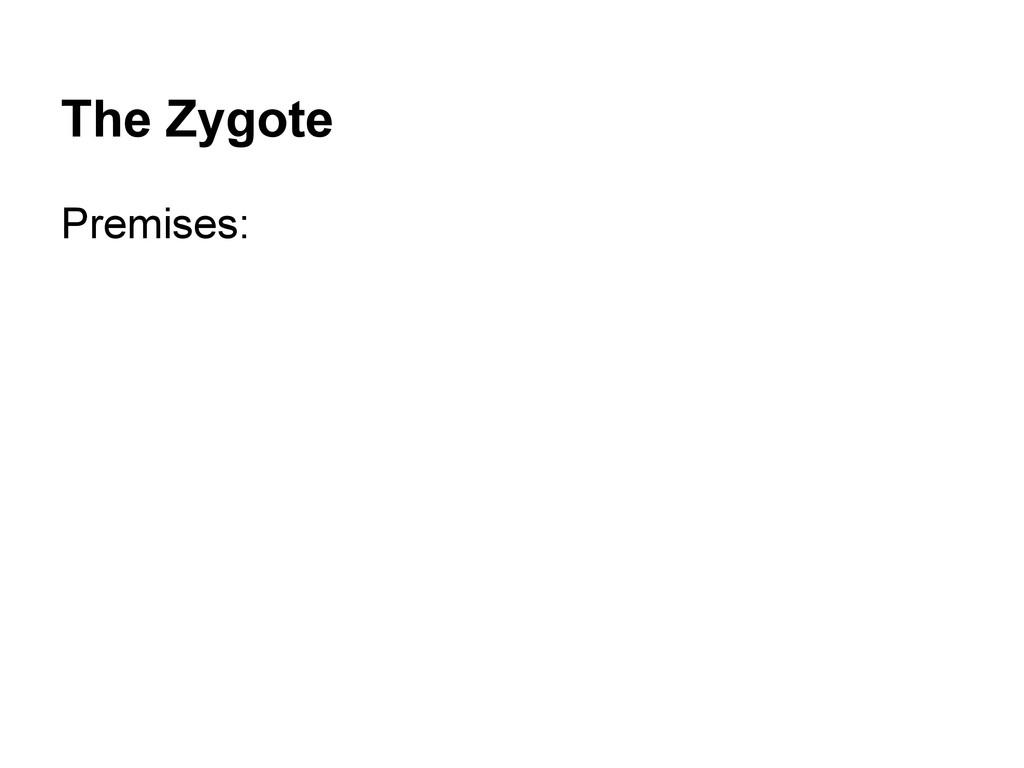 The Zygote Premises: