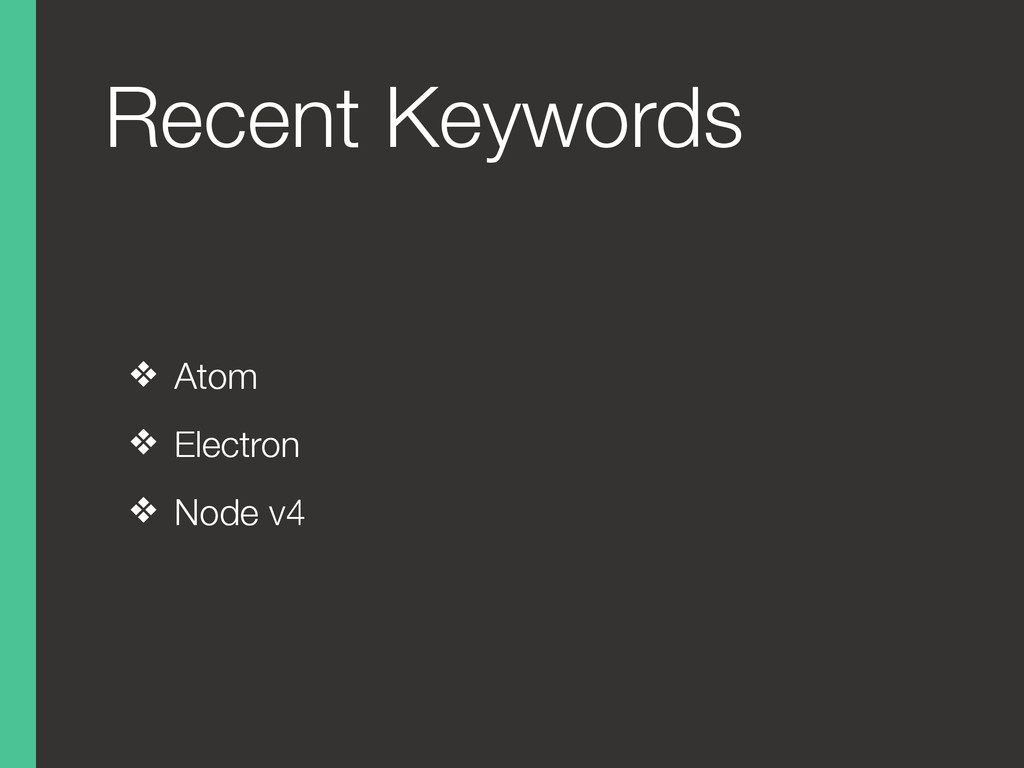 Recent Keywords ❖ Atom ❖ Electron ❖ Node v4