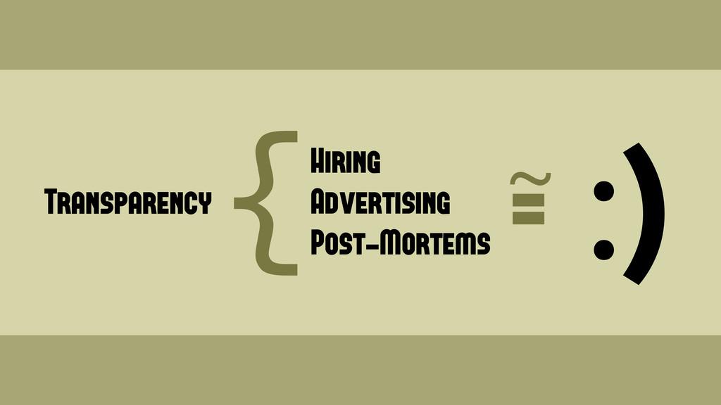 Transparency { Hiring Advertising Post-Mortems ...