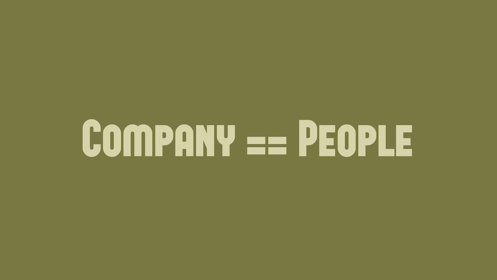 Company == People