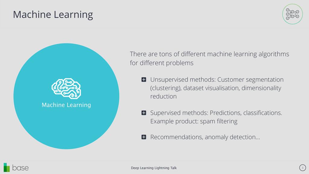 Deep Learning Lightning Talk 3 ! Machine Learni...