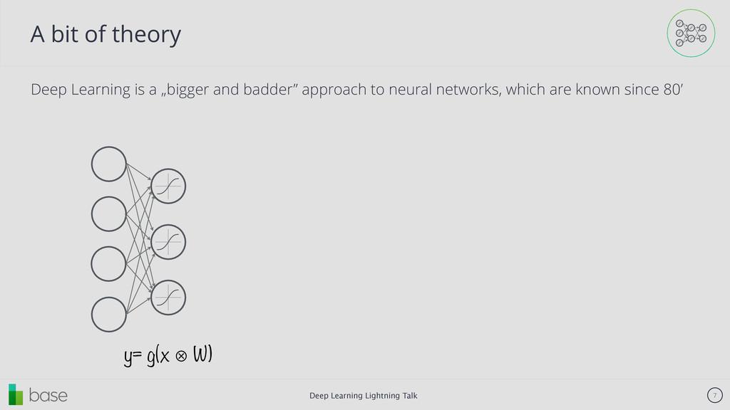 Deep Learning Lightning Talk 7 A bit of theory ...