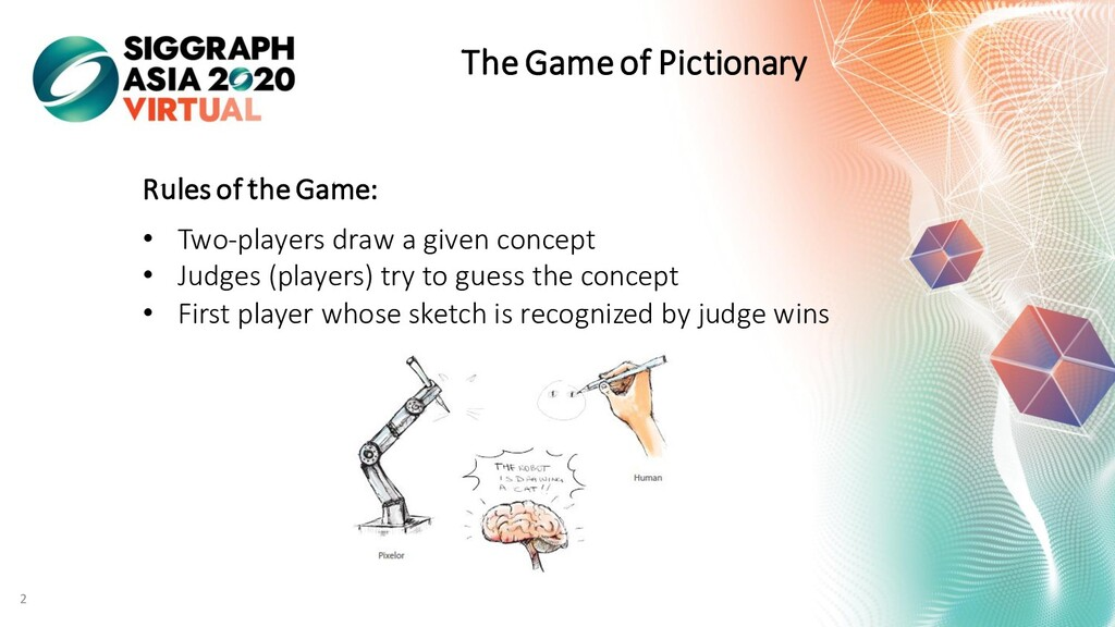 The Game of Pictionary Rules of the Game: • Two...