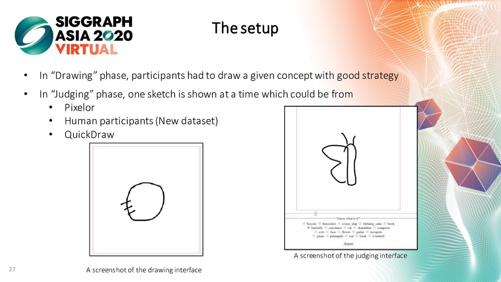 """The setup • In """"Drawing"""" phase, participants ha..."""