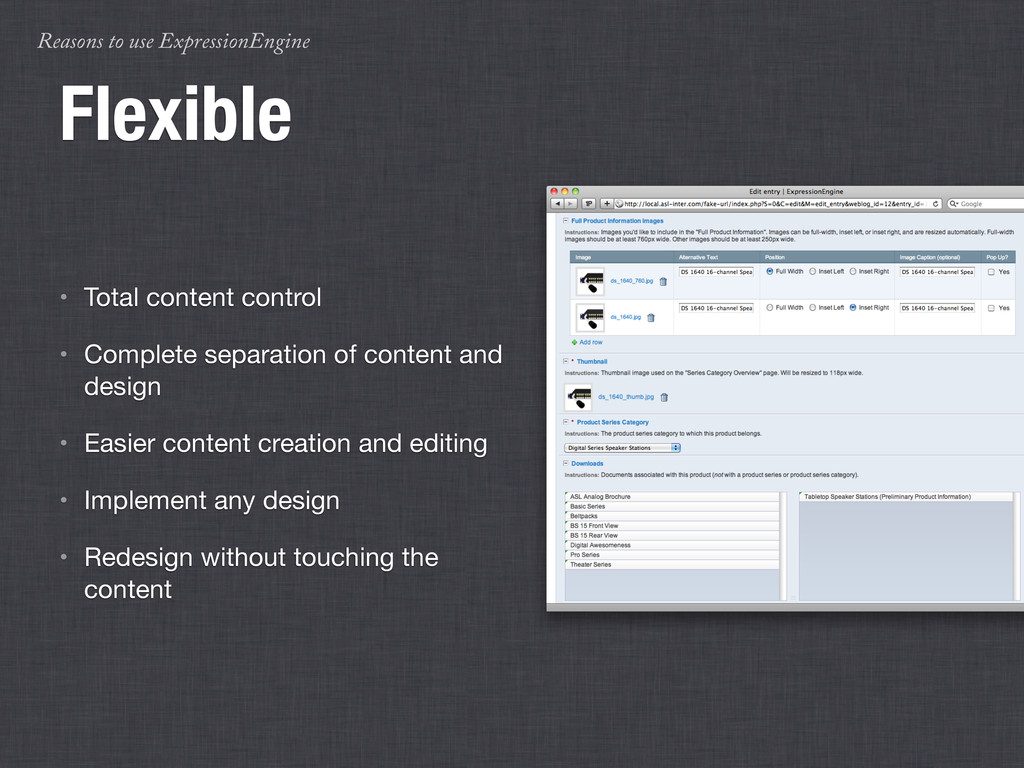 Reasons to use ExpressionEngine Flexible • Tota...