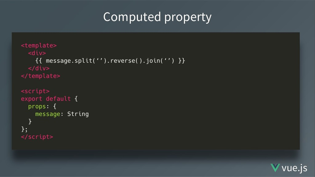 Computed property vue.js