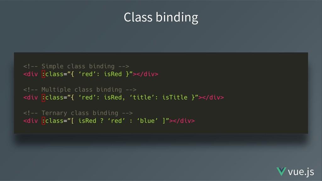 Class binding vue.js