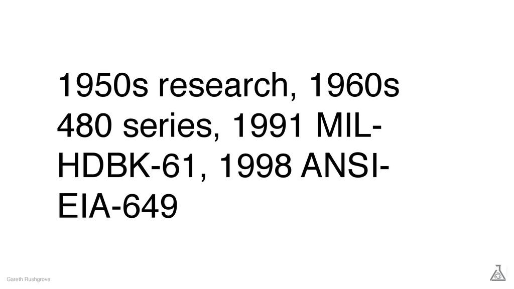 1950s research, 1960s 480 series, 1991 MIL- HDB...