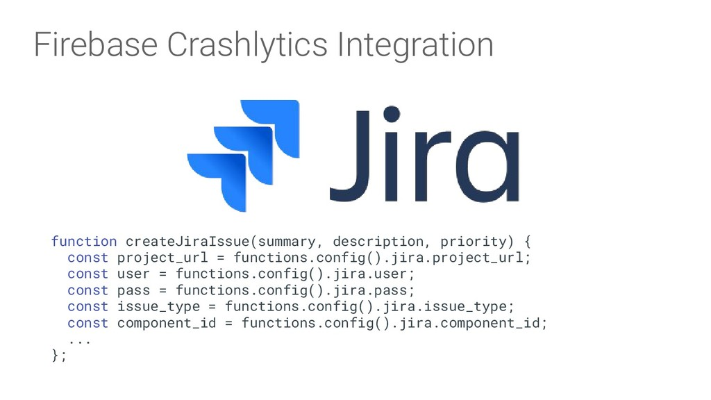 Firebase Crashlytics Integration function creat...