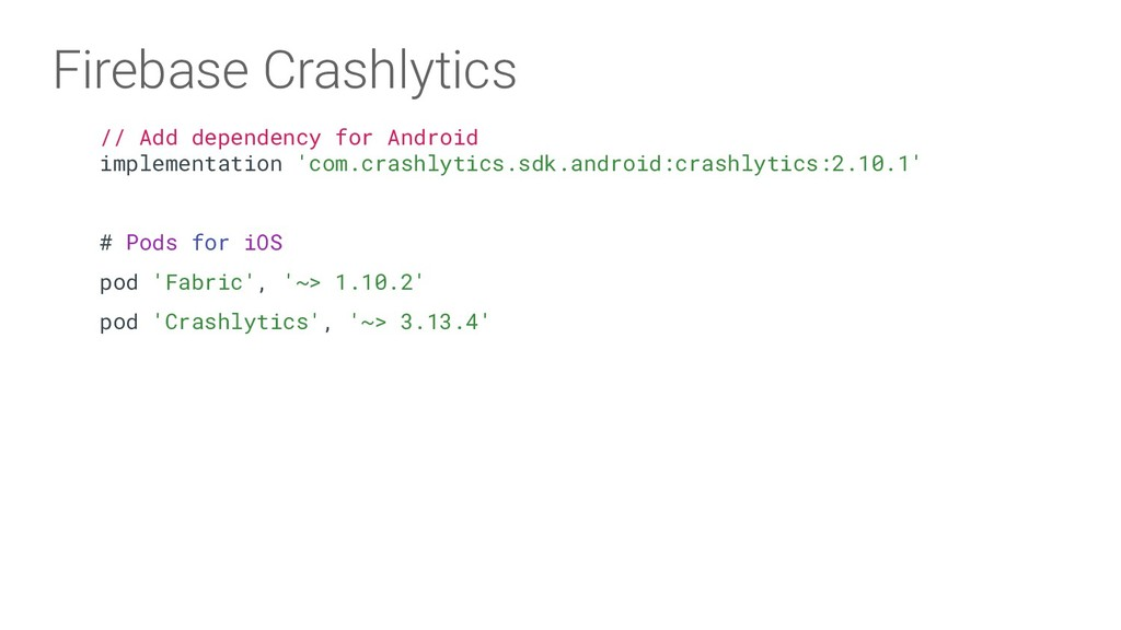 // Add dependency for Android implementation 'c...