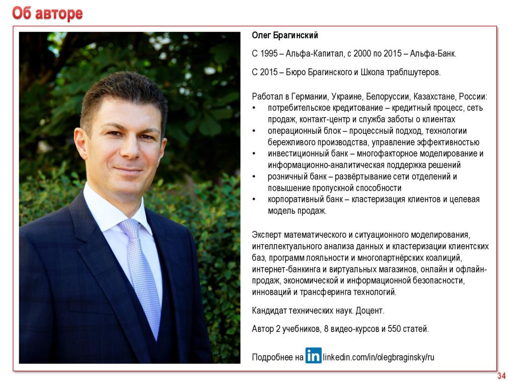 Олег Брагинский С 1995 – Альфа-Капитал, с 2000 ...