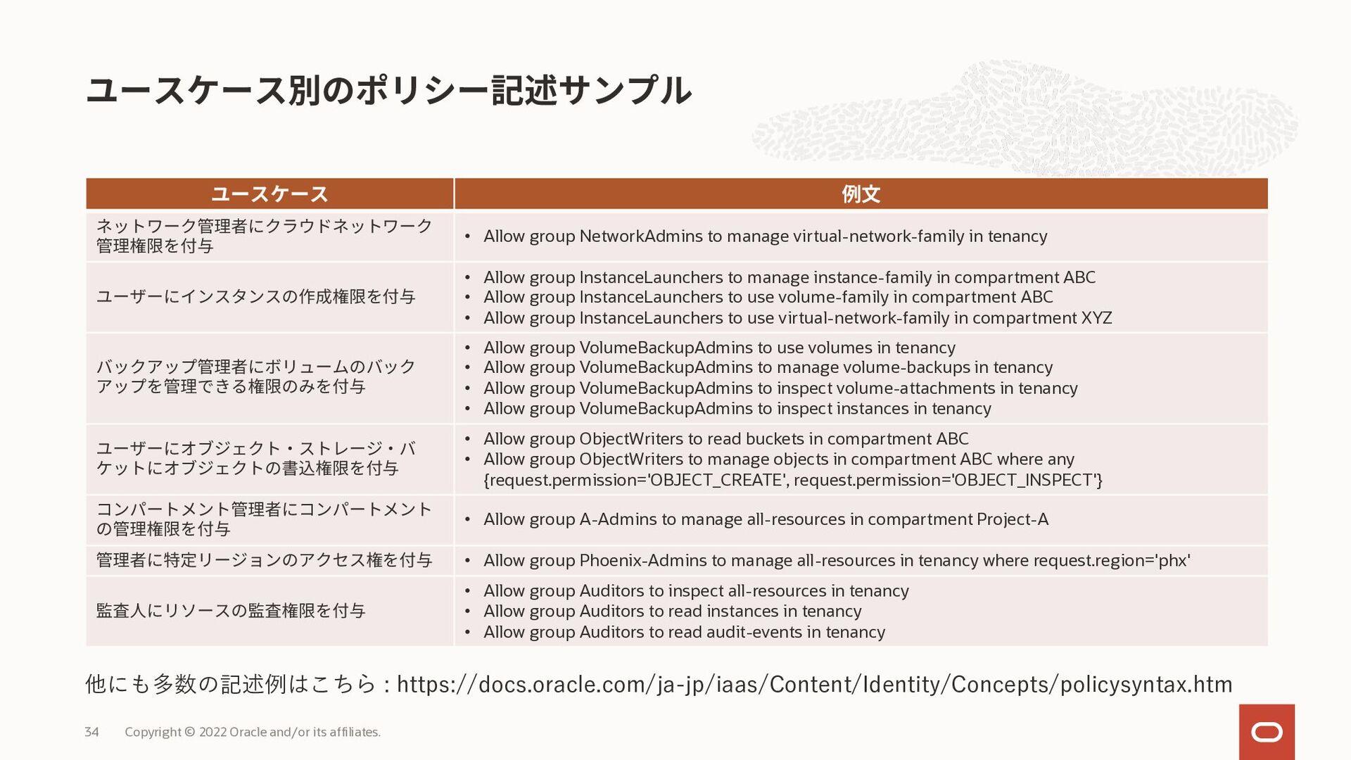 OCIを使用するにあたって、主に使用する認証およびID管理サービスは下記の2つ A) Orac...
