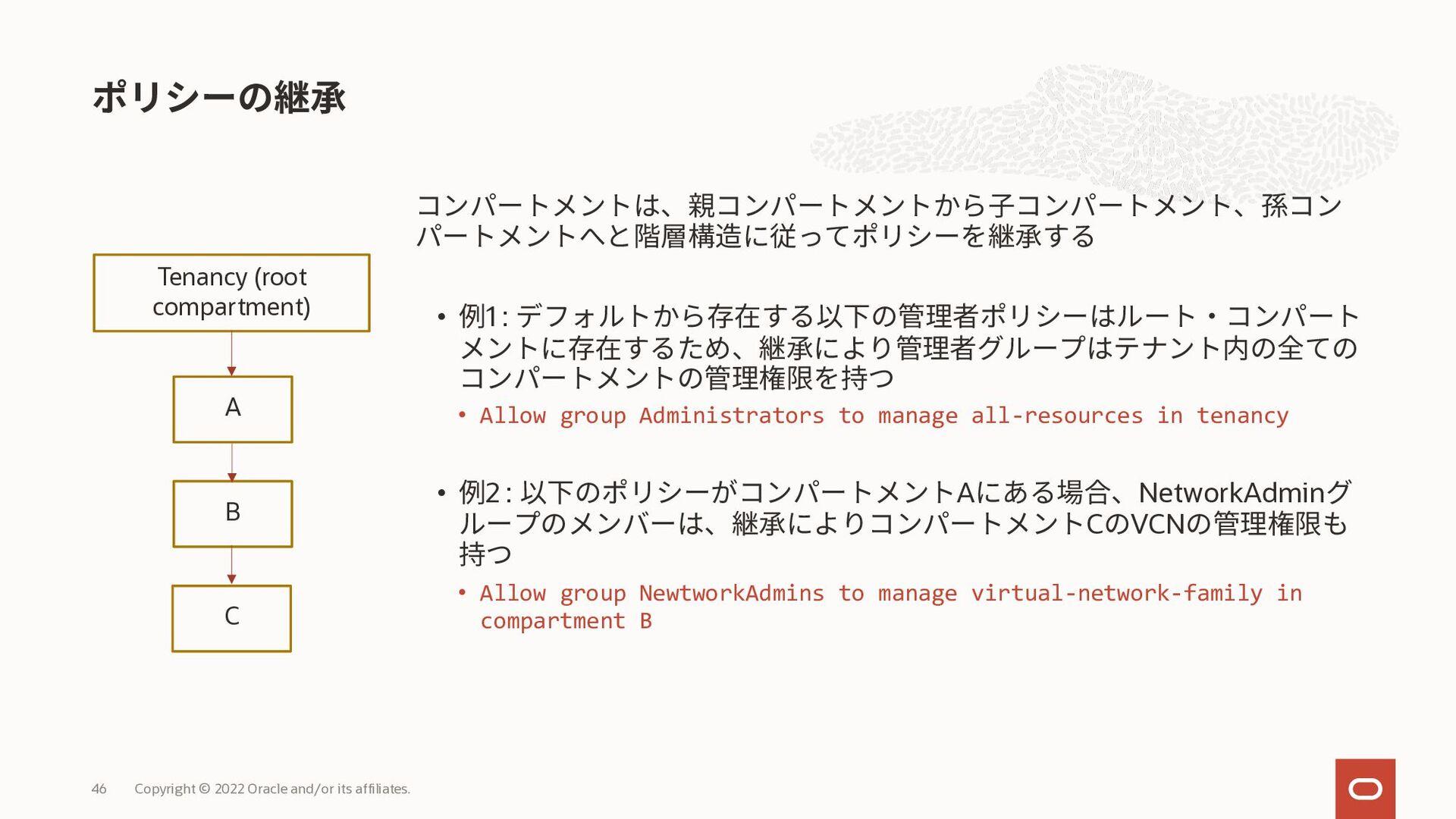 1. リソースを個別に別コンパートメントに移動 • リソース単位で個別に指定してコンパートメ ...