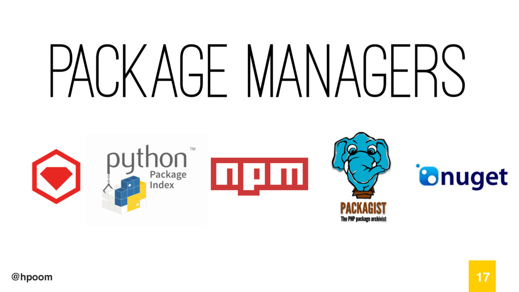 @hpoom Package Managers 17