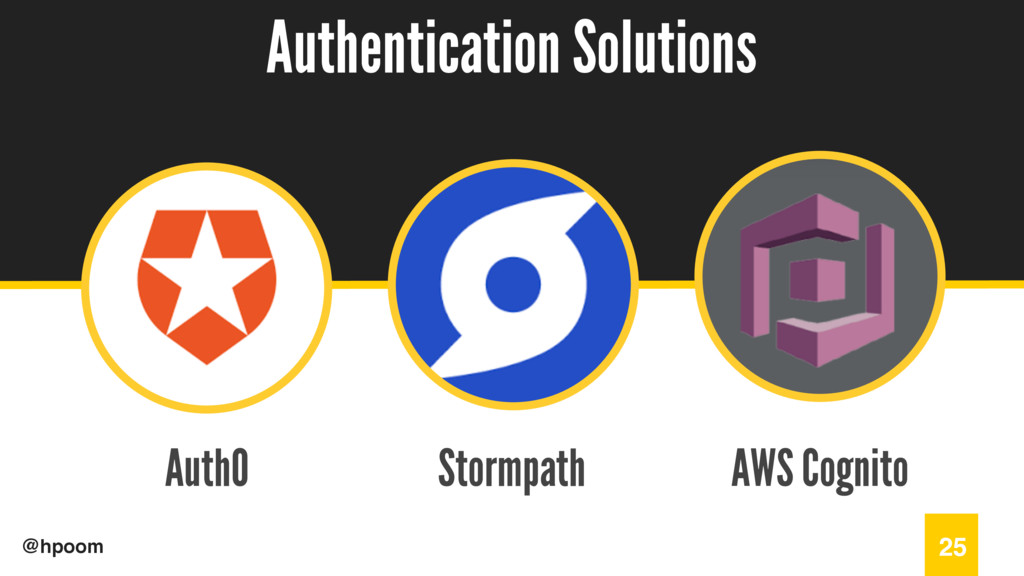 / @hpoom Auth0 Authentication Solutions 25 Stor...