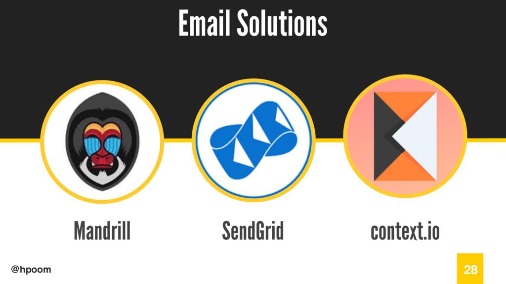 / @hpoom Mandrill Email Solutions 28 SendGrid c...