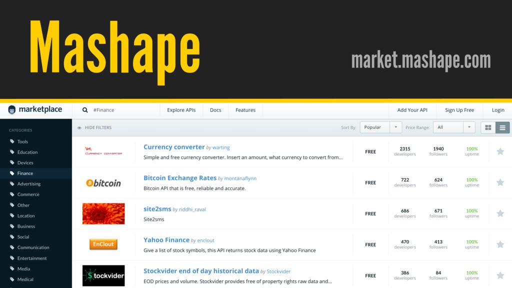 / @hpoom Mashape market.mashape.com