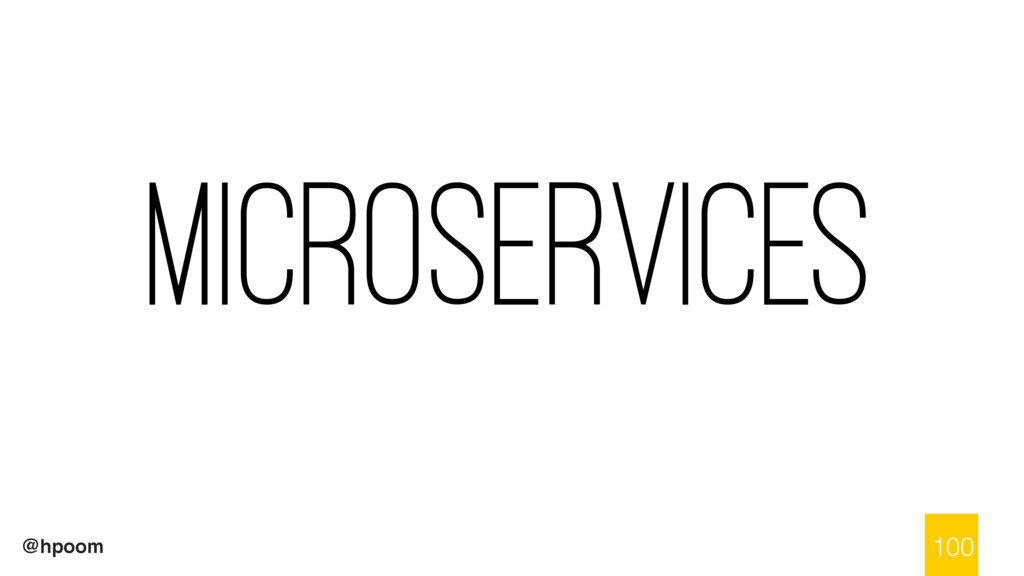 @hpoom Microservices 100