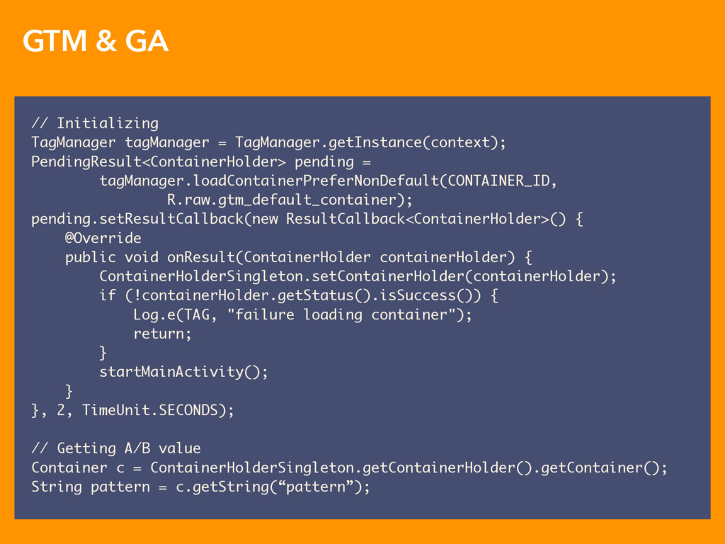 GTM & GA // Initializing TagManager tagManager ...