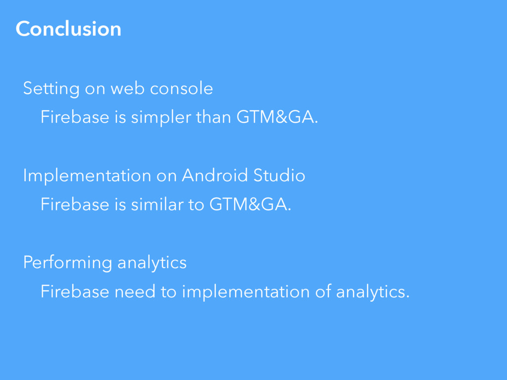 Conclusion Setting on web console Firebase is s...