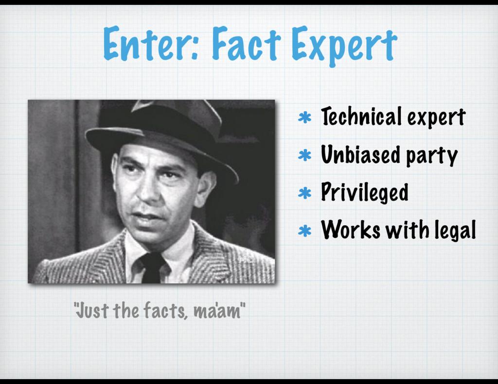 """""""Just the facts, ma'am"""" Enter: Fact Expert Tech..."""