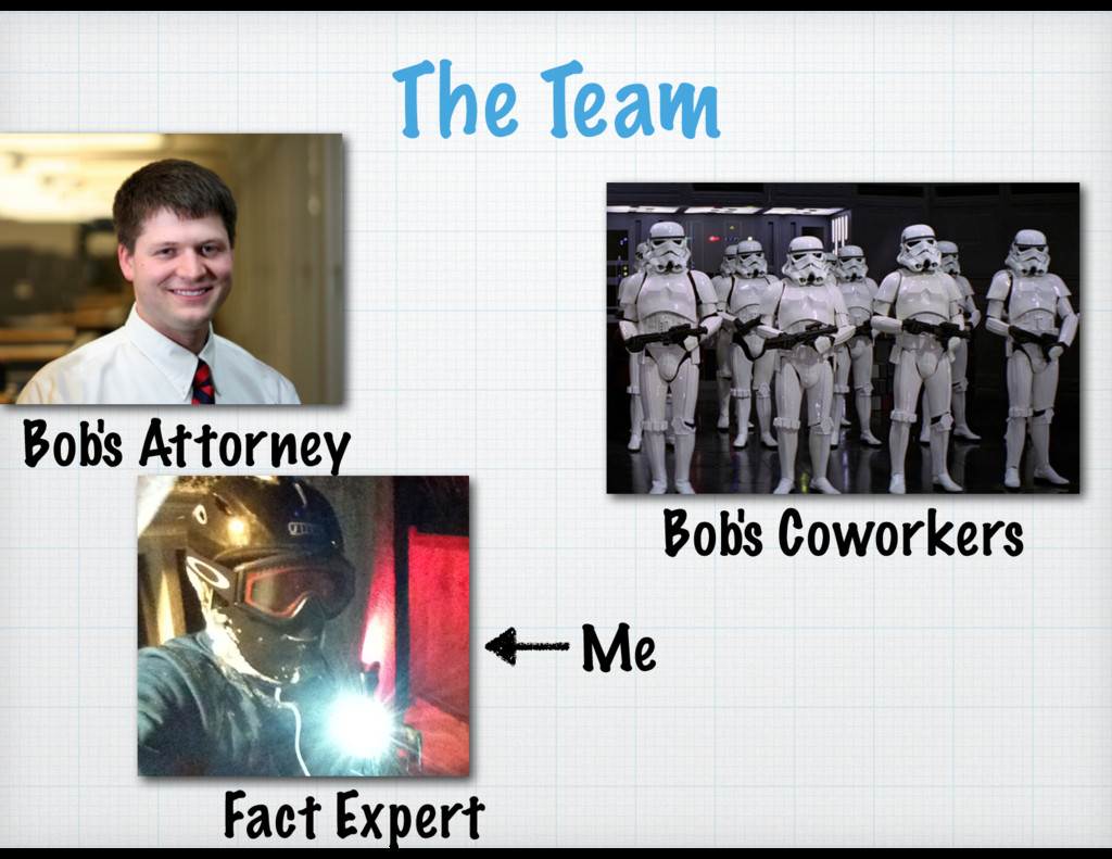 The Team Bob's Attorney Bob's Coworkers Fact Ex...