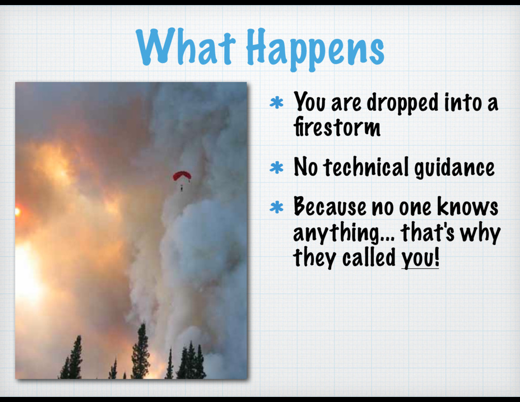 What Happens You are dropped into a firestorm No...